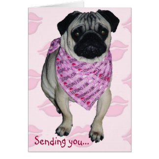 Pugs Kisses Valentine s Day Greeting Card