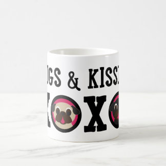 Pugs & Kisses XOXO Fawn Black Pug Mug