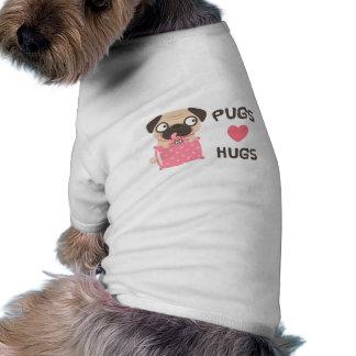 Pugs Love Hugs Cute Pug Dog Clothing