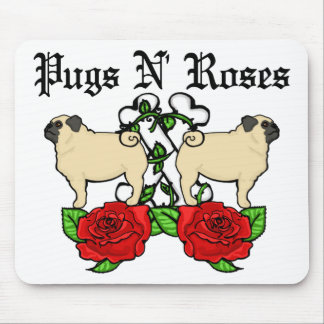 Pugs N Roses 2 Mouse Pad