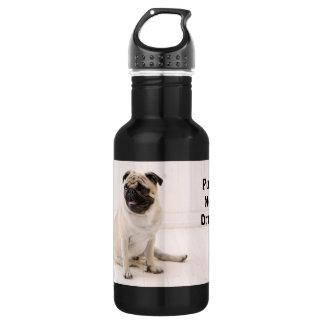 Pugs Not Drugs 532 Ml Water Bottle