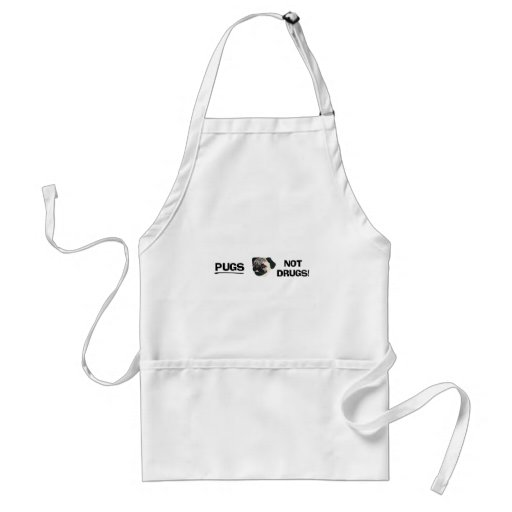 Pugs Not Drugs Apron