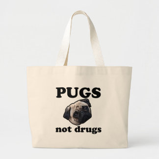 Pugs Not Drugs Canvas Bag