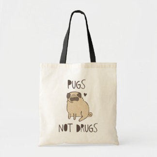 Pugs Not Drugs Budget Tote Bag