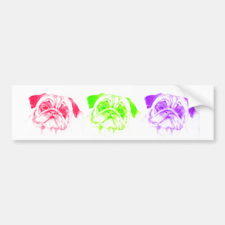 Pugs not Drugs Bumper Sticker