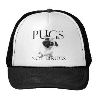 Pugs Not Drugs Trucker Hats