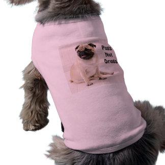 Pugs Not Drugs Doggie Ribbed Tank Sleeveless Dog Shirt