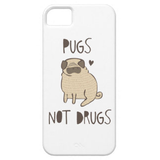 Pugs Not Drugs iPhone 5 Covers