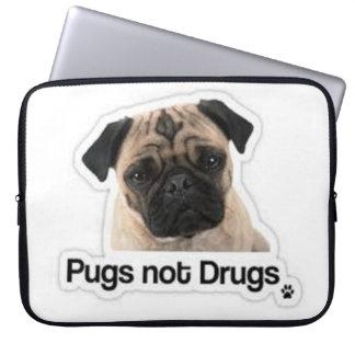 Pugs Not Drugs Laptop Sleeve