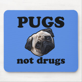 Pugs Not Drugs Mouse Mat