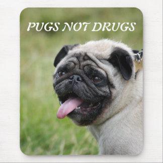 Pugs not drugs, pug dog cute photomousepad mouse mat