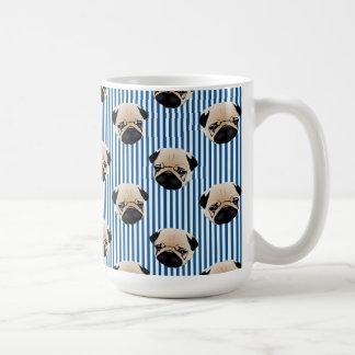 Pugs on Royal Blue.jpg Coffee Mug