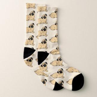 Pugs Pattern All-Over-Print Socks 1