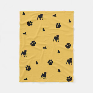 Pugs, Paws and Pugs! Fleece Blanket