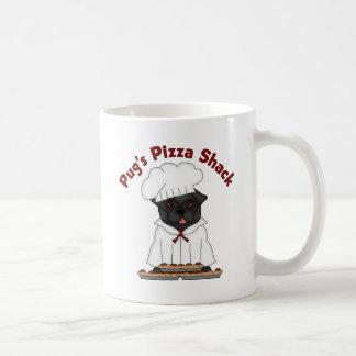 Pug's Pizza Shack Black Pug Mugs