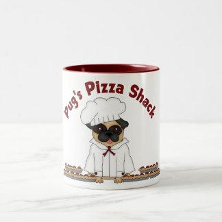 Pug's Pizza Shack Two-Tone Mug