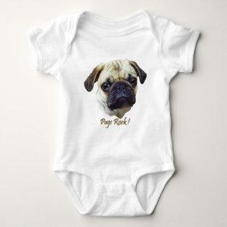 Pugs-Rock Baby Bodysuit