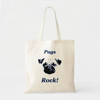 Pug's rock tote bag