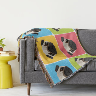 Pugs Rule! Add Your Name. Throw Blanket