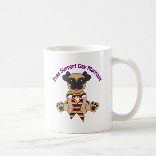 Pugs Support Gay Marriage Tees and Gifts Mugs