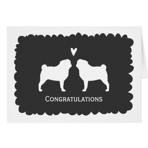 Pugs Wedding Congratulations Card
