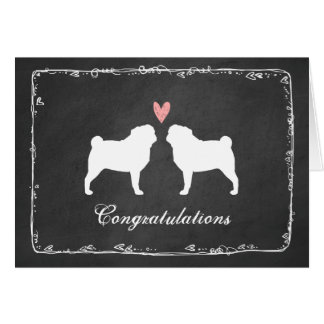 Pugs Wedding Congratulations Cards