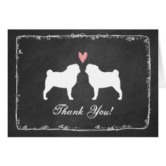 Pugs Wedding Thank You Card