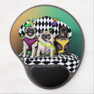 Pugsgiving Mardi Gras 2015 - Diamond Darla & Lilly Gel Mouse Pad
