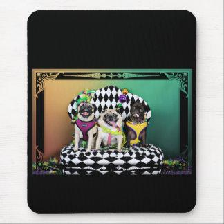 Pugsgiving Mardi Gras 2015 - Diamond Darla & Lilly Mouse Pad