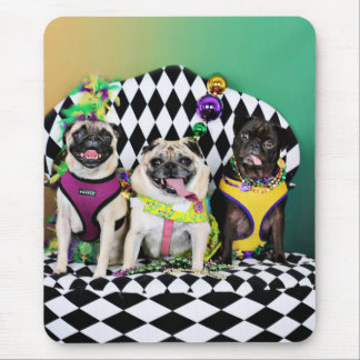 Pugsgiving Mardi Gras 2015 - Diamond Darla & Lilly Mouse Pad