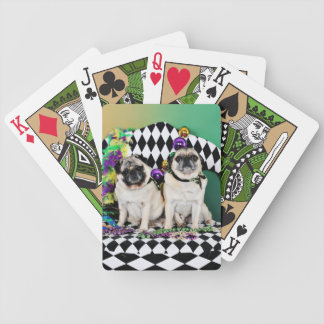 Pugsgiving Mardi Gras 2015 - Electra & Bruce - Pug Bicycle Playing Cards