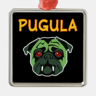 Pugula the Vampire Dog Christmas Ornament