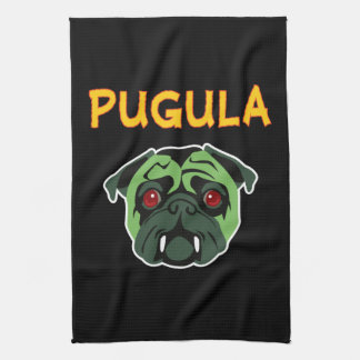 Pugula the Vampire Dog Hand Towels