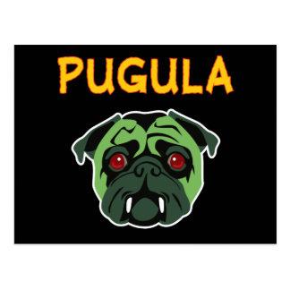 Pugula the Vampire Dog Postcard