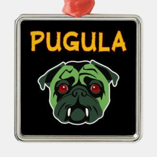 Pugula the Vampire Dog Silver-Colored Square Decoration