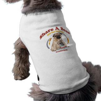Pugweizer Share A Beer Gifts Sleeveless Dog Shirt
