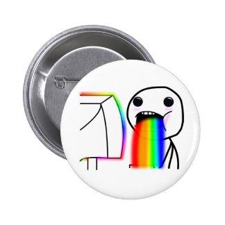 Pukes Rainbows 6 Cm Round Badge