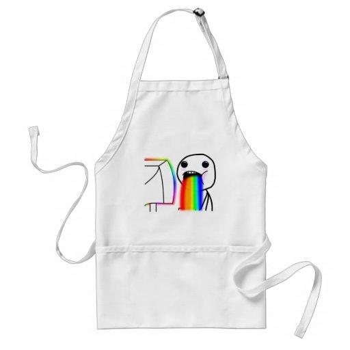 Pukes Rainbows Aprons