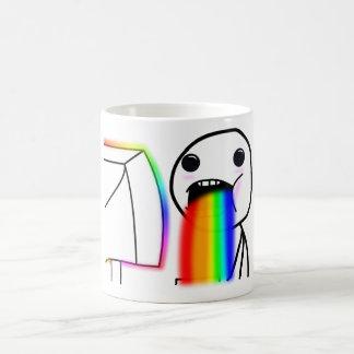 Pukes Rainbows Basic White Mug