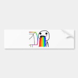 Pukes Rainbows Car Bumper Sticker