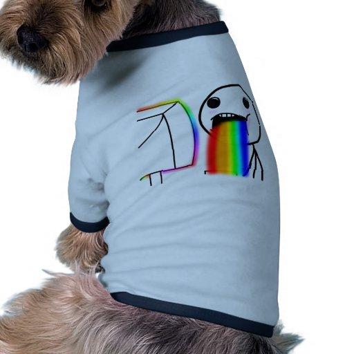Pukes Rainbows Doggie Shirt