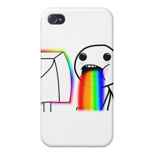 Pukes Rainbows iPhone 4/4S Cover