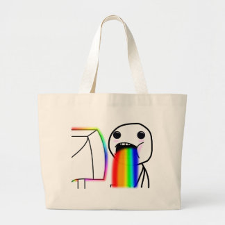 Pukes Rainbows Large Tote Bag