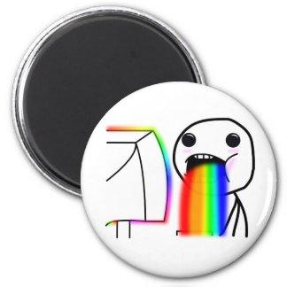 Pukes Rainbows Refrigerator Magnets