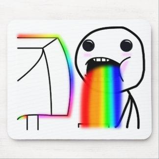 Pukes Rainbows Mouse Pad