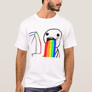 Puking Rainbow Meme Shirt