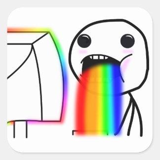 Puking rainbow sticker