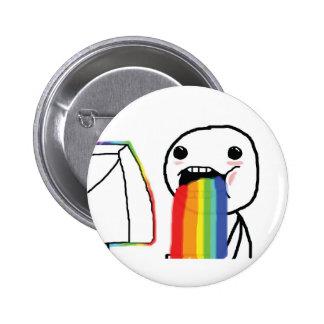 Puking Rainbows 6 Cm Round Badge