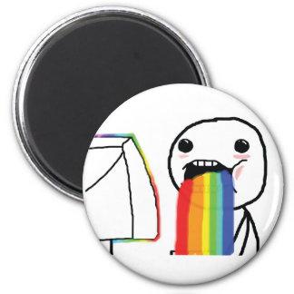 Puking Rainbows 6 Cm Round Magnet