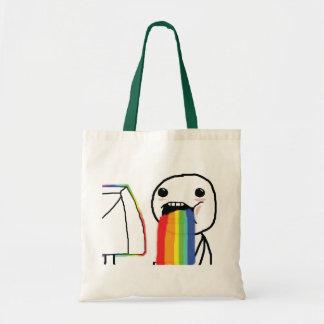 Puking Rainbows Budget Tote Bag